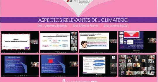 WEBINAR: Aspectos relevantes del climaterio